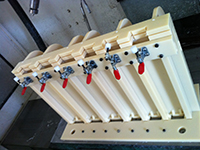 Additional work jig for molded products